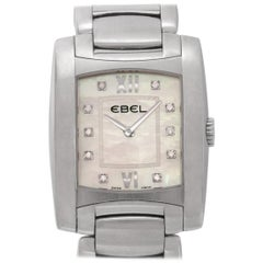Ebel Brasilia a125087 Steel Mother of Pearl Diamond Dial Quartz Watch