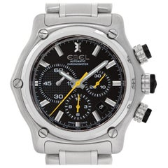 Ebel Brasilia Chronograph E9137l72, Black Dial, Certified &