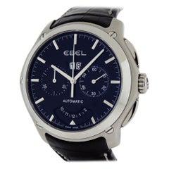 Ebel Classic Hexagon Chronograph 9305F71 Big Date Power Reserve Black Dial