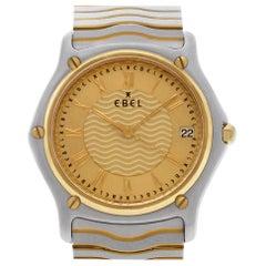 Ebel Classic Wave 1187f41 18 Karat and Steel Quartz Watch