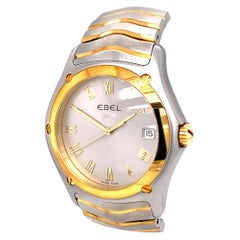 Ebel Classic Wave 1255F51-0225 18 Karat Yellow Gold Stainless Steel Gold