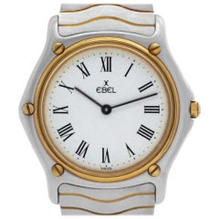 Ebel Classic Wave 12976 Stainless Steel White Dial Quartz Watch