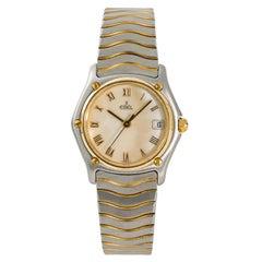 Ebel Classic Wave 183908 Women's Quartz Watch Mop Dial 18 Karat Two-Tone