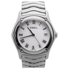 Ebel Classic Wave E9187F41 Quartz Swiss Men's Watch White Dial Stainless Steel