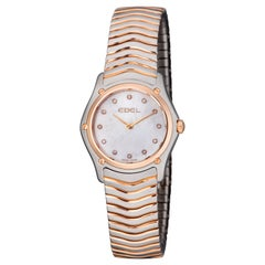 Ebel Classic Wave Rose Gold and Stainless Steel Diamond Ladies Watch 1215902