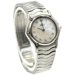 Ebel Classic Wave Stainless-Steel Ladies Wristwatch Ref 9157111