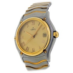 Ebel Classic with Yellow-Gold Bezel and Gold Dial Certified Pre-Owned