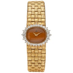 Ebel Diamond and 18 Karat Gold Ladies Wristwatch