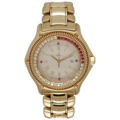 Ebel Discovery Wristwatch 883830, Diamonds and Rubies 18 Karat Gold Bracelet