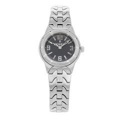 Ebel E Type Gray Dial Stainless Steel Quartz Ladies Watch 9157C11-3716
