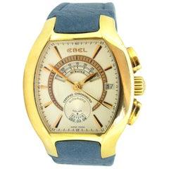 Ebel Ebellissimo Chronograph Yellow Gold Tonneau Men's Wristwatch
