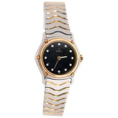 Ebel Ladies 18K Yellow Gold, Stainless Steel & Diamond Quartz Wrist Watch, 1990s