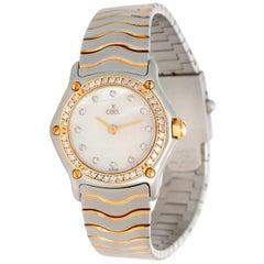 Ebel Ladies 2-Tone Mother of Pearl Diamond Wave Watch