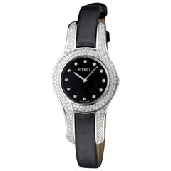 Ebel Midnight Moonchich White Gold and Diamond Black Dial Ladies Watch 3157H29