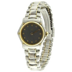 Ebel Mini Two-Tone Ladies Watch Stainless Steel 18 Karat Yellow Gold Quartz