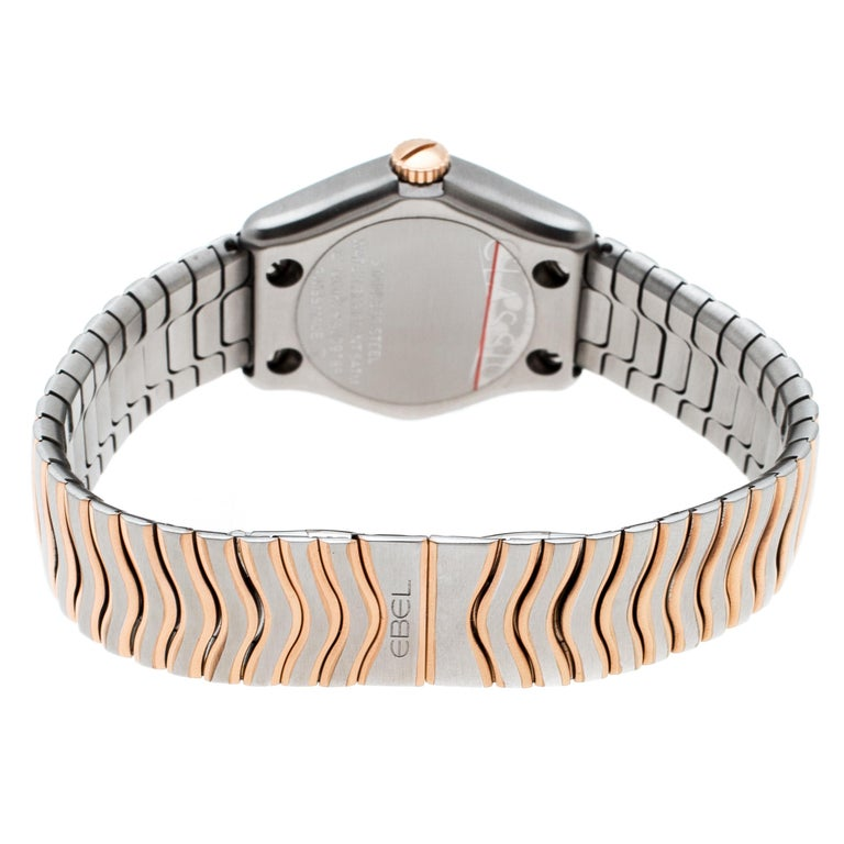 Ebel Mother of Pearl 18K Rose Gold Stainless Steel Diamonds Classic Wave 1200F26 2