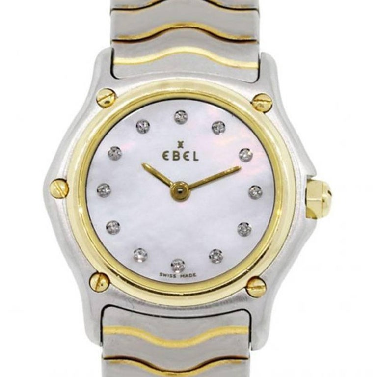 Ebel Sport Classic Two-Tone Mother-of-Pearl Diamond Dial Ladies Watch