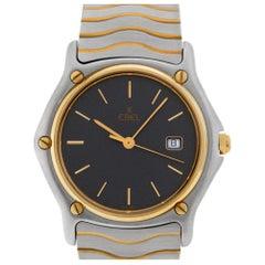 Ebel Sportwave 4028 18 Karat and Steel Quartz Watch