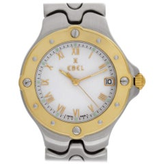 Ebel Sportwave e6187631 Stainless Steel, White Dial Quartz Watch