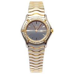 Ebel Watch Yellow Gold Steel Diamonds