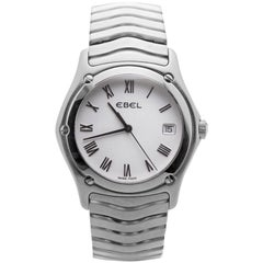 Ebel Wave E9187F41 With 7 mm Band, Stainless-Steel Bezel & White Dial