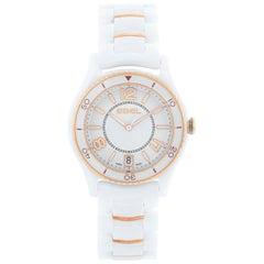 Ebel X-1 Silver Dial White Ceramic Ladies Watch 1216113