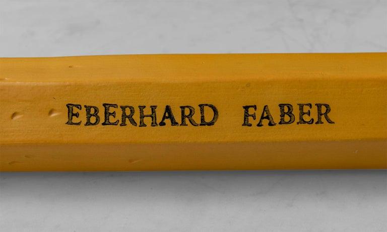 Ceramic Eberhard Faber Pencil Sculpture by Karen Shapiro, America 21st C For Sale