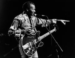 Chuck Berry Pointing to Audience Vintage Original Photograph