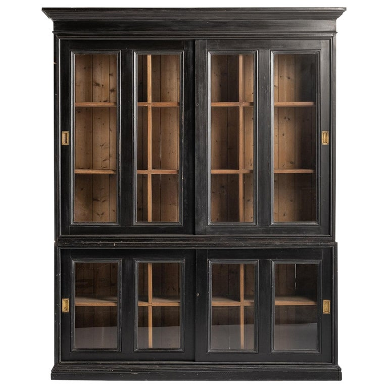 Ebonised Museum Cabinet For Sale
