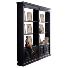 Ebonised Shop Cabinet