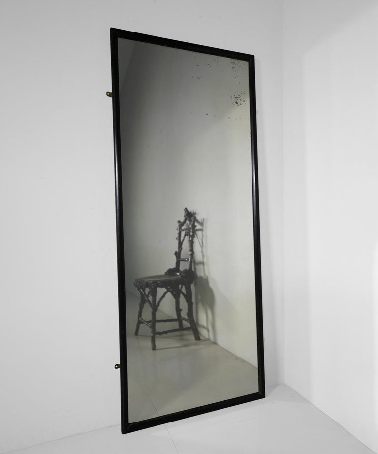 Original frame with period plate glass mirror and pine backboards.