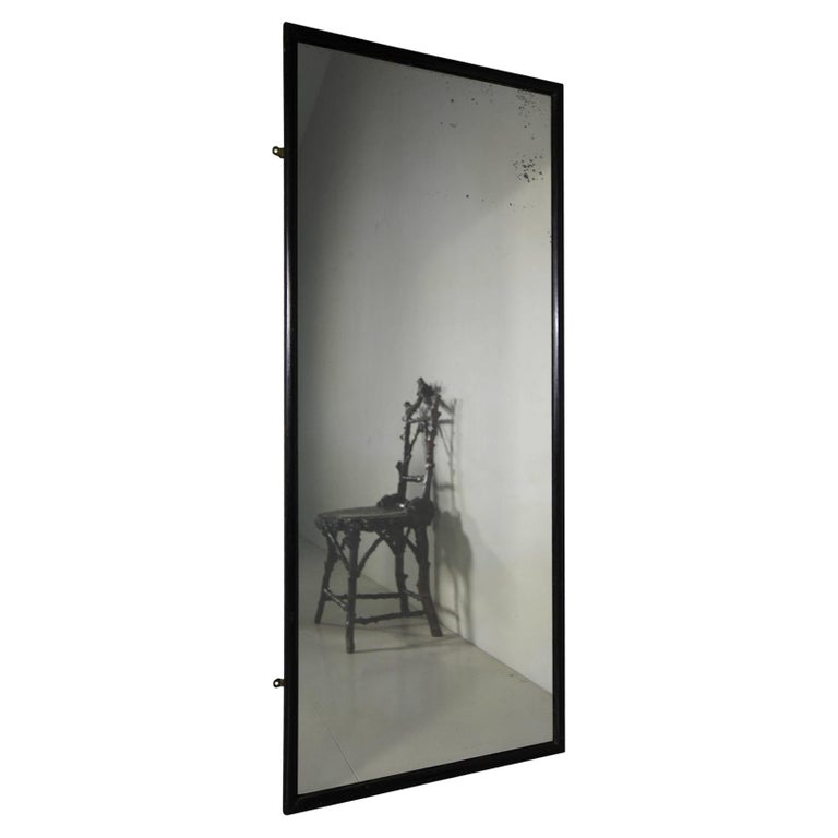 Ebonised Shop Fitting Mirror For Sale