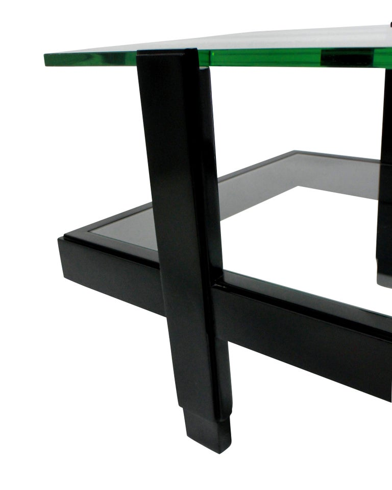 Italian Ebonised Two-Tier Occasional Table