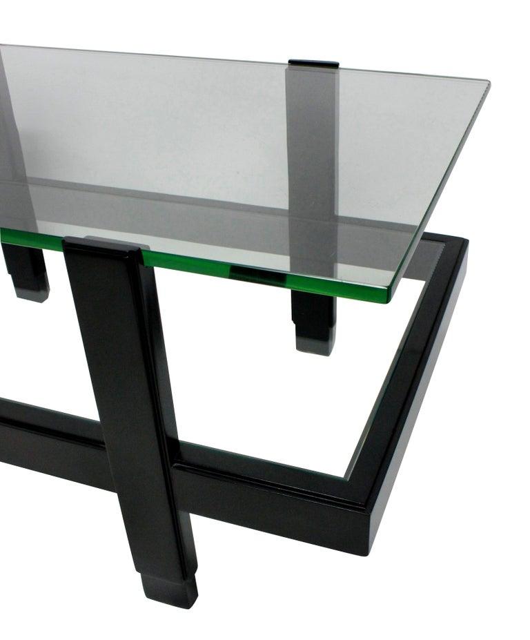 Italian Ebonized Two-Tier Occasional Table
