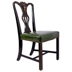 Ebonized and Gilded Portuguese Side Chair
