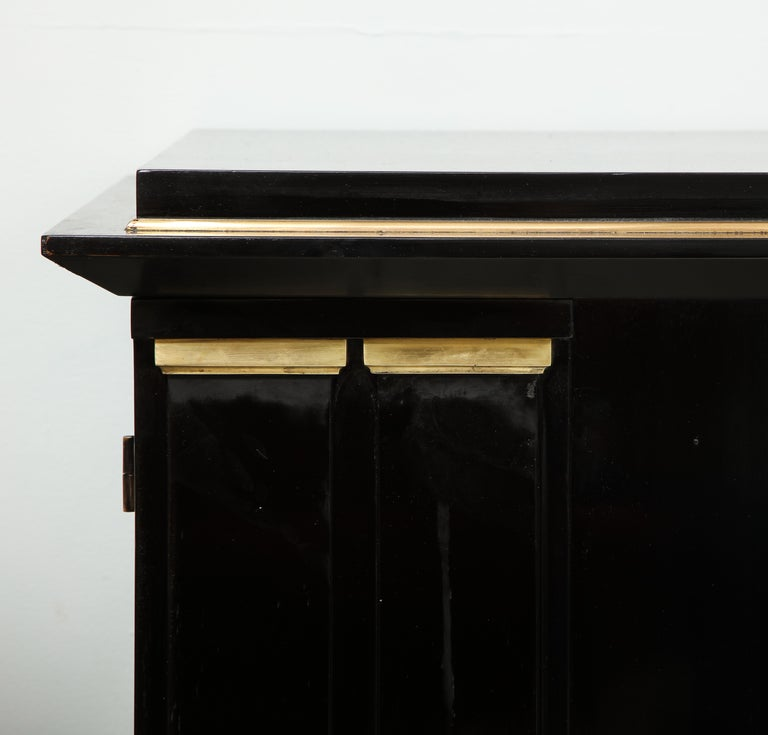 20th Century Ebonized Architectural Sideboard with Bronze Mounts For Sale