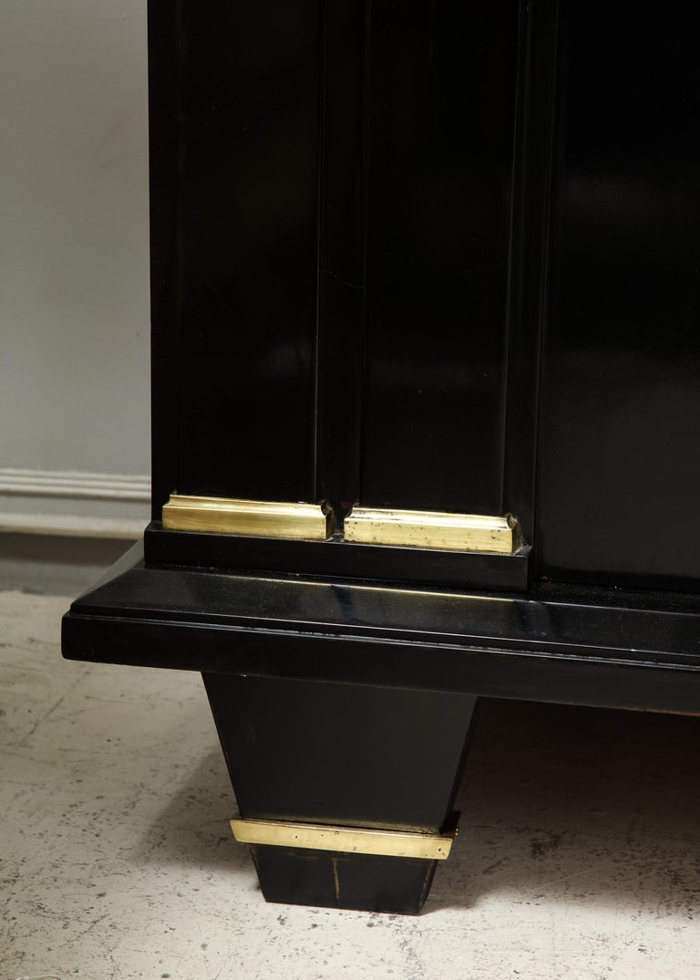 Mahogany Ebonized Architectural Sideboard with Bronze Mounts For Sale