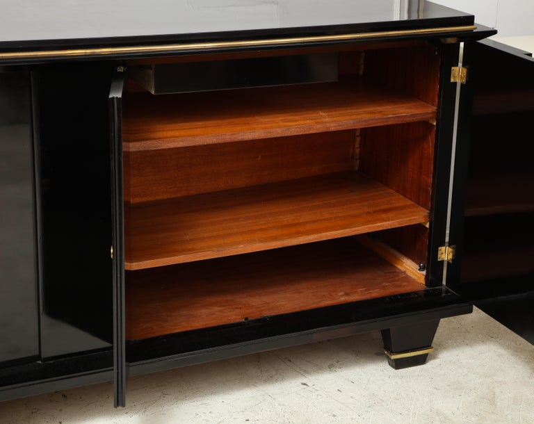 Ebonized Architectural Sideboard with Bronze Mounts For Sale 2