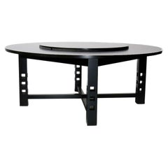Ebonized Ash 304 Dining Table by Charles Rennie Mackintosh for Cassina