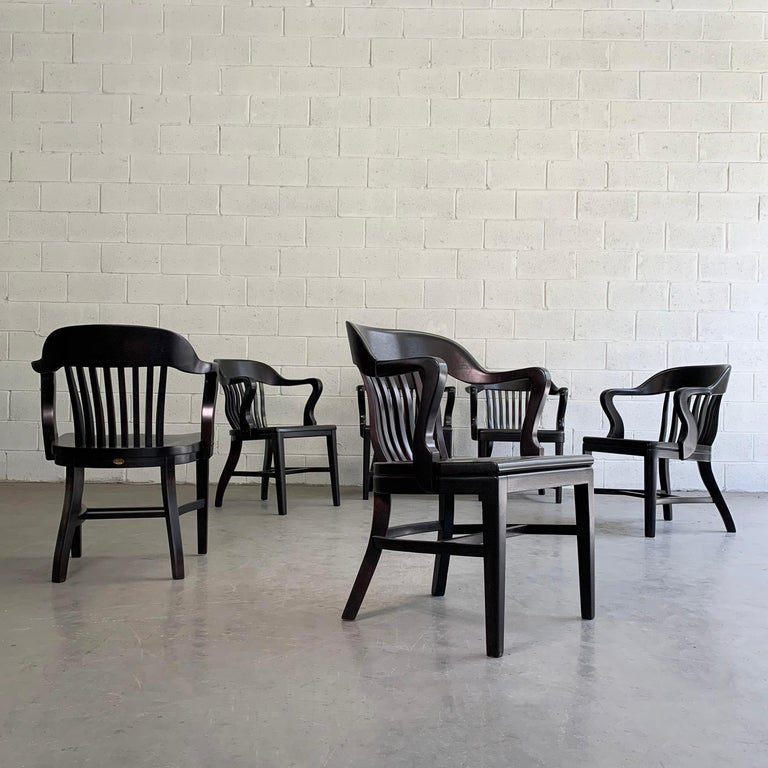 American Ebonized Bank of England Armchairs For Sale