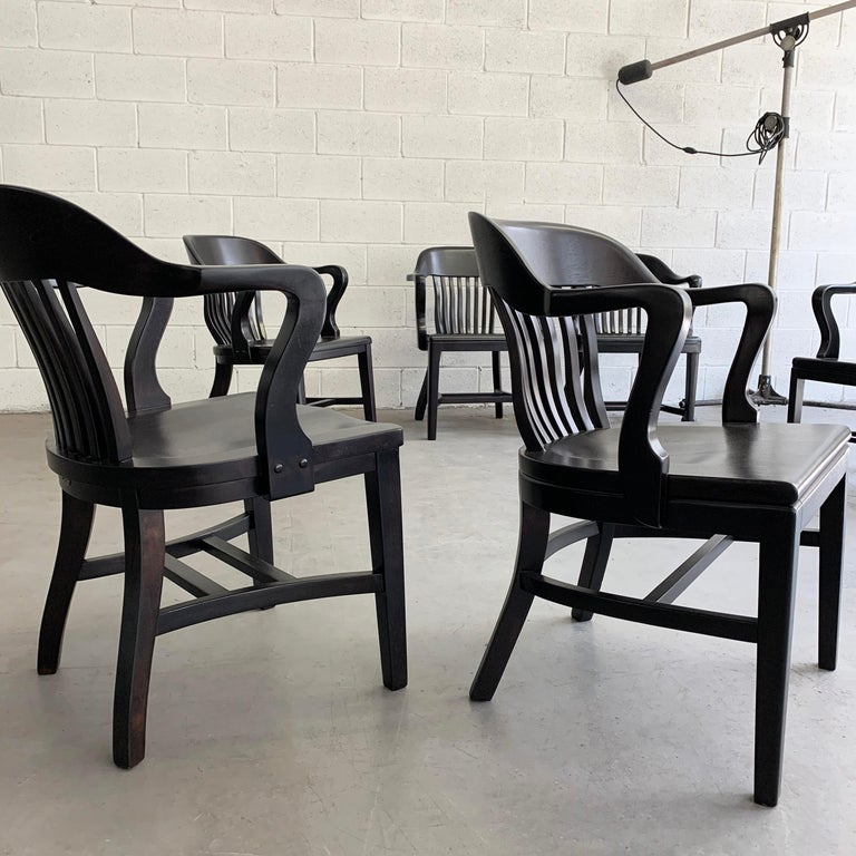 20th Century Ebonized Bank of England Armchairs For Sale