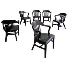 Ebonized Bank of England Armchairs