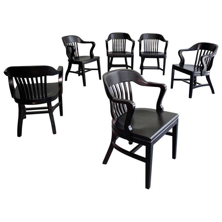 Ebonized Bank of England Armchairs For Sale