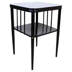Ebonized Beechwood Side Table by Thonet, Art Nouveau Period, Austria circa 1915
