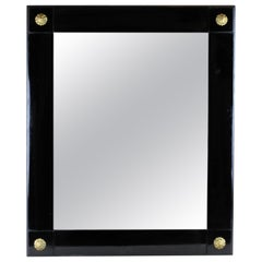 Ebonized Biedermeier Wall Mirror I, Austria, circa 1850