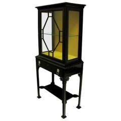 Ebonized Chippendale Revival Display Cabinet