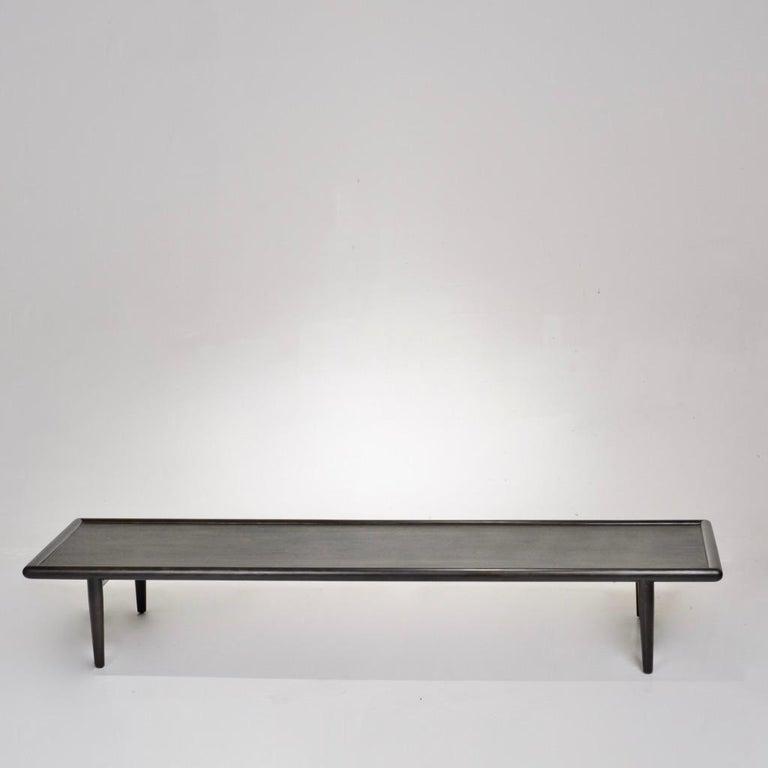 Ebonized coffee table or bench by T.H. Robsjohn-Gibbings for Widdicomb.
