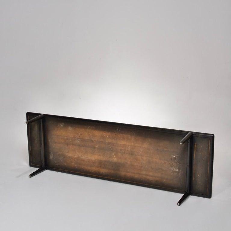 American Ebonized Coffee Table Bench by T.H. Robsjohn-Gibbings for Widdicomb For Sale