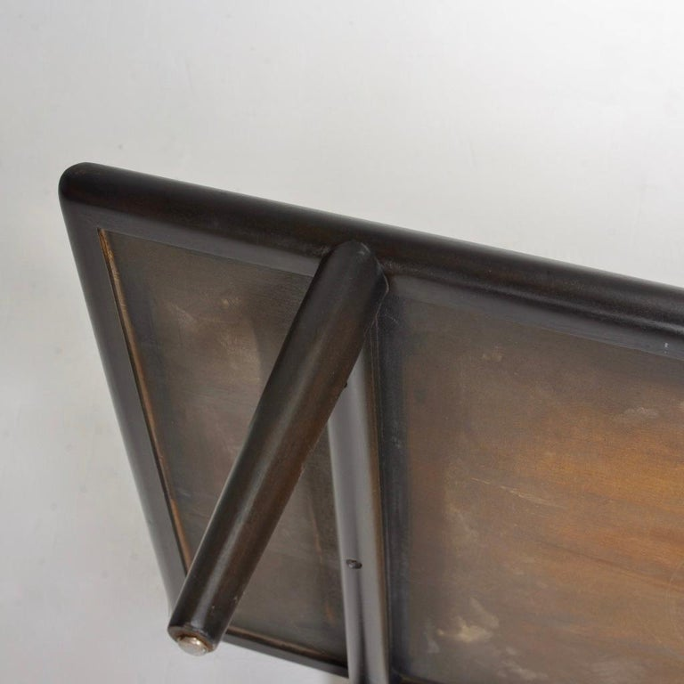 Ebonized Coffee Table Bench by T.H. Robsjohn-Gibbings for Widdicomb In Good Condition For Sale In Los Angeles, CA