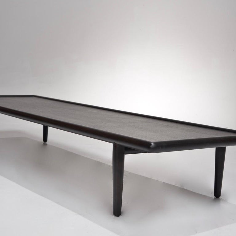 Mid-20th Century Ebonized Coffee Table Bench by T.H. Robsjohn-Gibbings for Widdicomb For Sale